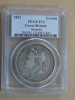 1821 Great Britain Crown Pcgs F12