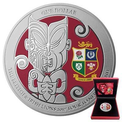 The British & Irish Lions 2017 Rugby Tour to New Zealand Silver Proof Coin