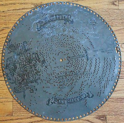"""#1356 """"Drinking Song"""" from Traviata 1890's Regina 151/2"""" Music Disc"""