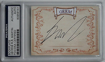 Psa Dna George Rr Martin Signed Bookplate Game Of Thrones Auto Signature Got