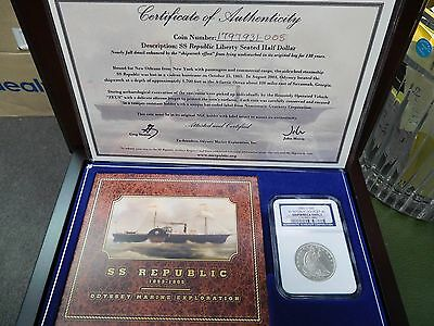 1856 O NGC SS Republic Doubled 56 Shipwreck Effect Seated Liberty 50 cent RARE