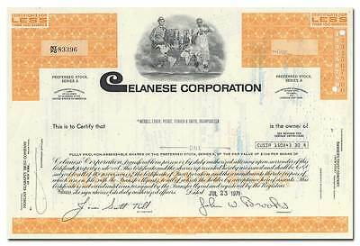 Celanese Corporation Stock Certificate