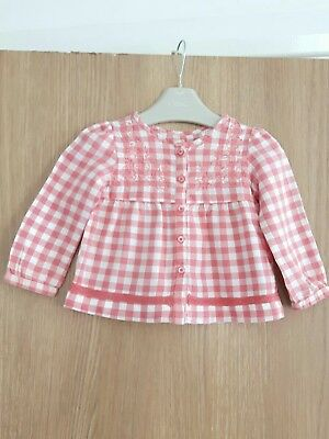 Baby Girls (Zara Baby) Smock  Top Age 6-9 Months