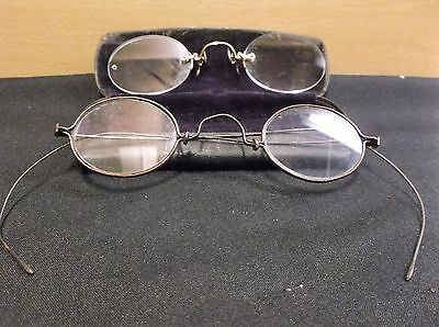 2 Antique Reading Glasses VERY OLD.