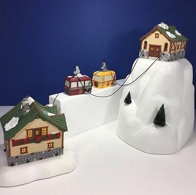 Department 56 #52511 Gondola Set - Mountain, 2 Buildings, 2 Cars and Cable
