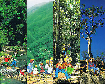 7 x BOOKMARKS QUEENSLAND FORESTS Late 1990s ENVIRONMENTAL VALUES Forest Service