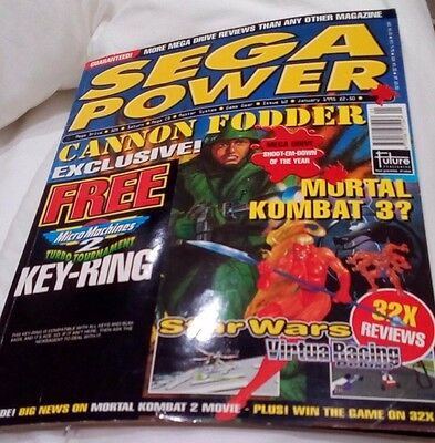 Sega Power Mortal Kombat 3 Star Wars Virtua Racing No Key-Ring