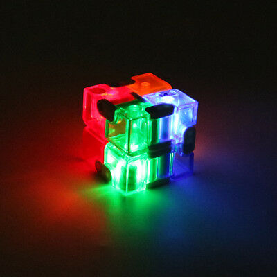 Mini LED Light Magic Z8 Infinity Fidget Cube Stress Relief Toy for Adults & Kids