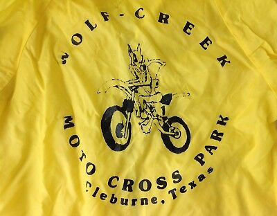 VTG 70's Child's MOTOCROSS Nylon Windbreaker Jacket Wolf Creek Clebourne TEXAS