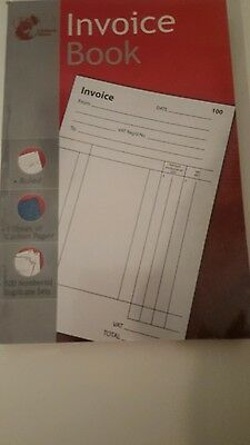 1-100 A5 Invoice Receipt Duplicate Cash/vat Book Carbon Copy Trade Ruled Sheets6