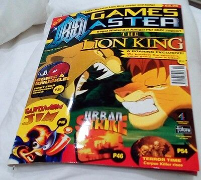 Games Master The Lion King Sonic & Knuckles Magazine