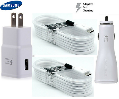 OEM Adaptive Fast Charging Car/Wall Charger For Samsung Galaxy S6 S7 Note 4 5