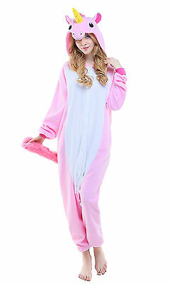 Unisex Adult Animal Pyjamas Cosplay Costume Kigurumi (Pink Flying Horse XL)