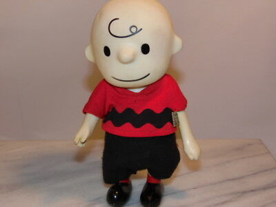 Vintage Charlie Brown Figurine Pocket Doll United Feature Syndicate 1966