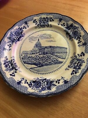 United States Capitol by Buffalo Pottery 10-1/4 Inch Dinner Plate