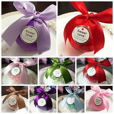 Round Ball Candy Box Plastic With Ribbon Chocolate Gift Bags Wedding Party Decor