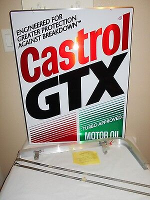 Castrol GTX Motor Oil Turbo Approved Doubled Sided Advertising Pole Sign