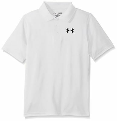 Under Armour Mens Trajectory White Polo Shirt New T-Shirt Heatgear Coolswitch