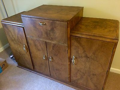1930's 40's Vintage Art Deco Bar Cabinet