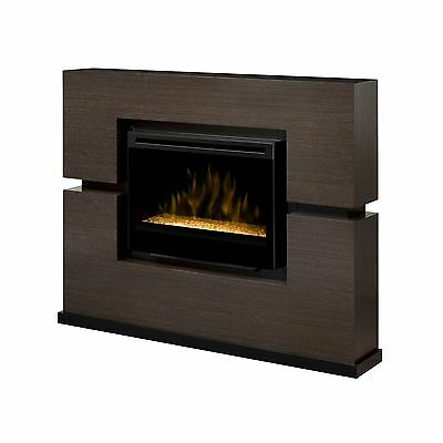 """Dimplex Linwood rift gray electric TV fireplace media stand 33"""" acrylic ice fire"""