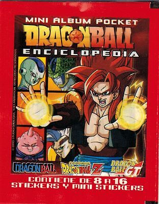 Peru 1999 Navarrete Dragon Ball Enciclopedia Mini Album Pocket Sticker Pack