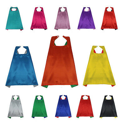 ST Fashion Double Side Kids Cape Costume Cloaks Party Festival Cosplay Gifts