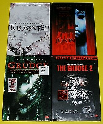 Horror DVD Lot of 4 - Ju-On Tormented The Grudge & The Grudge 2 (3 Used, 1 New)