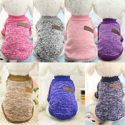 Lovely Pet Cat Dog Jacket Winter Clothes Small Puppy Doggie Sweater Coat Apparel