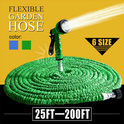 Garden Expandable Hose Flexible Water Hose Pipe with 7 Function Spray Nozzle