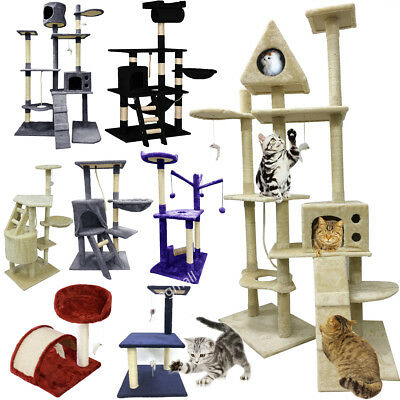 Cosy Kitten Cat Climbing Tree Scratching Post Activity Centre Bed Toy Scratcher
