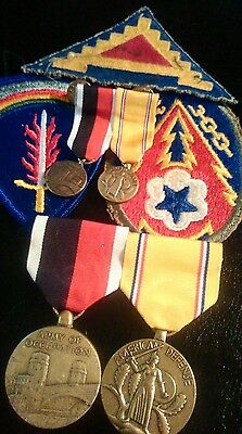 WORLD WAR 2 Medals + 2 The Mini Medals/ Ww2 3- Patches / Biggest Ever  Auction