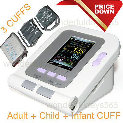 Blood Pressure Monitor NIBP with PC software 3 Cuff Adult/Child/Infant US Seller