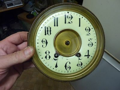 Large Antique French Clock Striking Movement & Dial- Repair