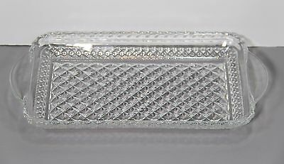 """One Wexford Cranberry Tray 9 3/4"""" - Anchor Hocking Glass Made 1962-98"""