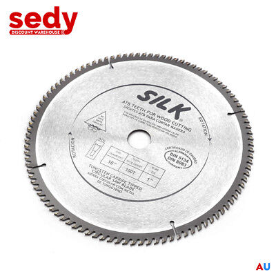 "10"" Circular Saw Blade 100 Teeth Round Cross Cutting Wood Timber Aluminium Cut"