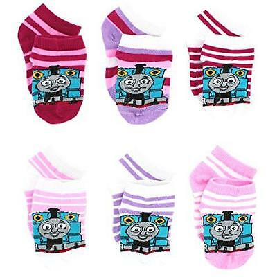 NEW Thomas Train and Friends Socks 2-4 Toddler 6 pack Girls Baby Fune Cute Pink