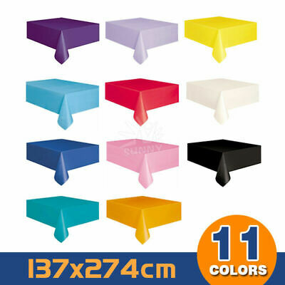 Tablecover Table Cover Plastic Tablecloth Birthday Wedding Party 137*274cm