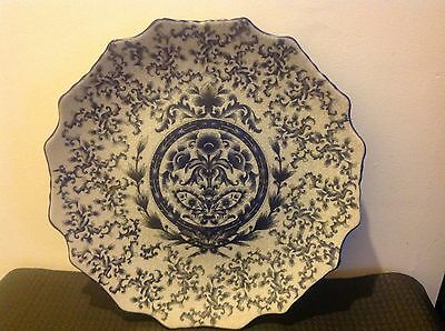 Oriental Crackle Glazed Delft Vintage Charger