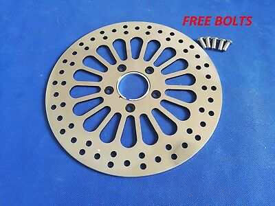 "11.5"" Front Brake Rotor Super Spoke Polished Disc For 1984-2013 Harley Touring"
