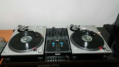 Two Technics sl 1200 1210 mk2 turntables &  rane 56 62 for hiphop records mixers