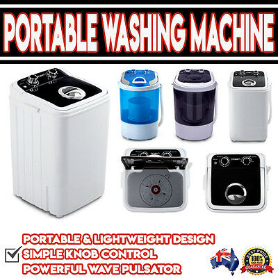 Small Mini Portable Washing Machine Dryer Spin Rinse Cycle Camping
