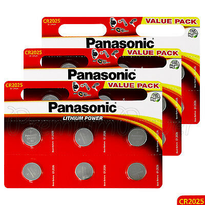 18 x Panasonic CR2025 batteries Lithium Power 3V Coin Cell DL2025 BR2025 EXP2026