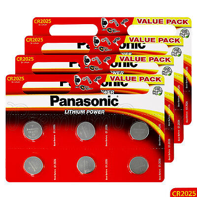 24 x Panasonic CR2025 batteries Lithium Power 3V Coin Cell DL2025 BR2025 EXP2026
