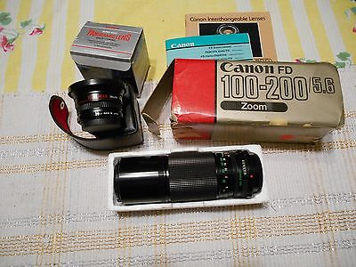 Vintage Canon 100-200 Zoom & Panoramic Lens Super Wide Lenses