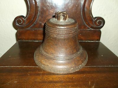 Rare Antique Treen Solid Oak Carving Grandison Bell Model From Exeter Cathedral