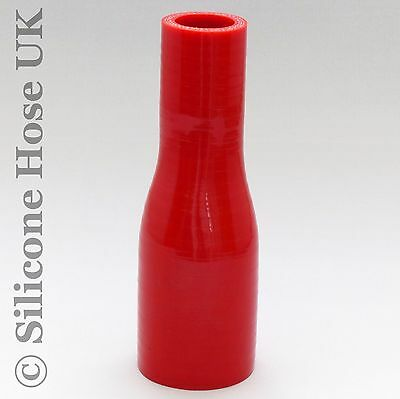 Silicone Hose Straight Reducing Connector Red 45mm > 25mm Heater Coolant Water