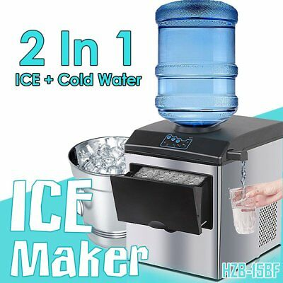 Auto Ice Cube Cold Water Maker Bench top Portable Freezer Machine Home Office XP