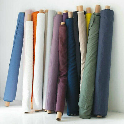 """110"""" Width 100% Pure French Linen Fabric for Clothes Bed Sets Wholesale"""