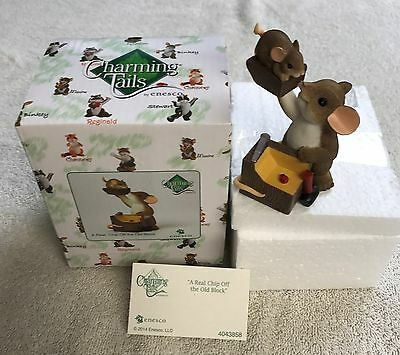 Charming Tails A Real Chip Off The Old Block 2014 Enesco Mouse Figurine 4043858