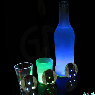 LED Light Color Changing Drink Glass Cup Bottle Coaster Mat For Clubs Bars